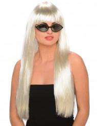 Glamorös blond peruk