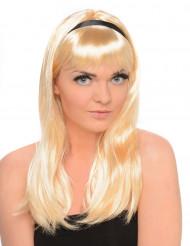 Halvlång blond peruk för vuxna
