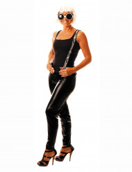 Svarta leggings i läder imitation - Maskeradtillbehör för vuxna