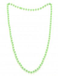 Grönt pärlshalsband i plast för vuxna