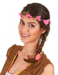 Krans med rosa blommor vuxna