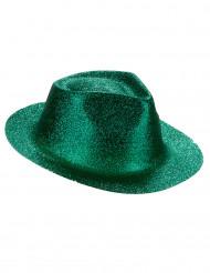 Grön hatt med paljetter för vuxna