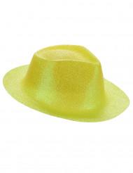 Gul paljettäckt hatt för vuxna