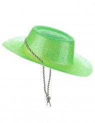 Grön cowboyhatt i plast för vuxna till St. Patrick
