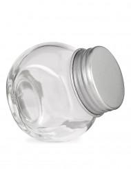 Liten burk i glas med skruvlock - Festdekoration 5 x 5,5 cm