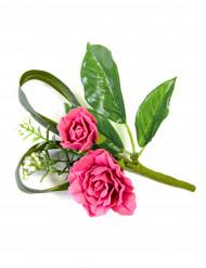 Bordsdekoration fejkblommor i fuschia rosa