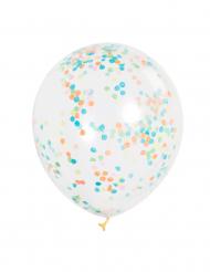 6 Ballonger med färgglatt konfetti