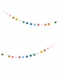 Minigirlang med färgglada stjärnor