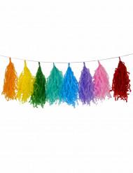 Girlang med 16 papperstofsar i flera färger