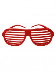 Randiga glasögon i rött
