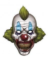 Elak clown - Pappersmask till Halloween