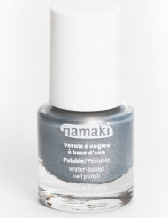 Vattenbaserat silvrigt nagellack, 7,5 ml, Namaki Cosmetics ©