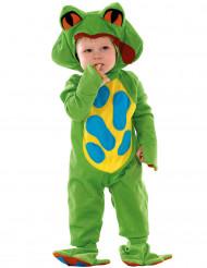 Grön groddräkt bebis