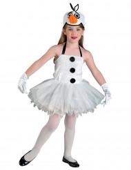Snögubbeklänning för barn till jul