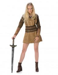 Vikingdräkt i brunt - Maskeraddräkt för vuxna
