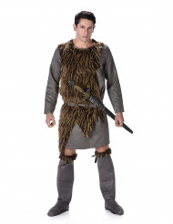 Vikingdräkt med skinn Man