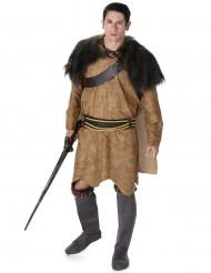 Vikingdräkt i brunt Man