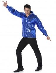 Discoskjorta med paljetter Blå