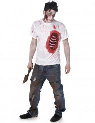 Zombie t-shirt med synligt revben