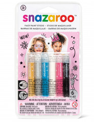 6 Sminkstift från Snazaroo™ - Prinsesskit till kalaset