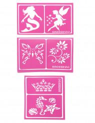 6 Schabloner från Snazaroo™ i sjöjungfrutema - Kalaskul