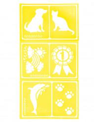 6 Schabloner från Snazaroo™ i djurtema - Kalaskul