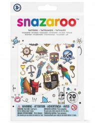 20 Fuskatueringar från Snazaroo™ i Pirattema - Kalaskul