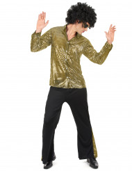 Gyllene discodräkt - Maskeradkläder för vuxna