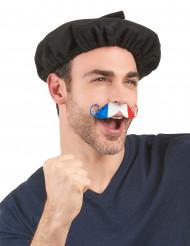 Mustasch fransk supporter vuxen