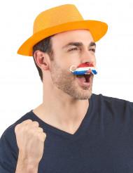 Mustasch nederländsk supporter vuxen