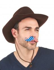 Mustasch för amerikansk supporter
