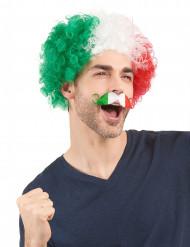 Mustasch italiensk supporter vuxen