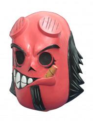 Djävul - Dia de los Muertos-mask för vuxna