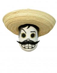 Dia de los Muertos-mask för Halloween