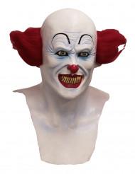 Heltäckande djävulsk clown-mask för vuxen till Halloween
