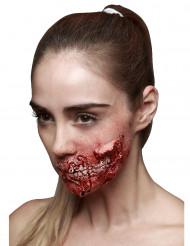 Fejksår med synliga tänder till Halloween