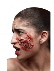 Fejksår med invasion av maskar till Halloween