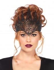 Ondskefull drottningkrona i svart för Halloween