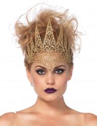 Ondskefull drottningkrona i guld till Halloween