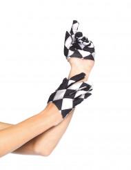Minihandskar i svart och vitt för vuxen