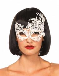 Vit-fantasi maskeradmask för vuxen