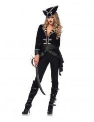 Premium piratkapten - utklädnad för vuxna till temakvällen