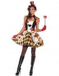 Spelkort hjärter - utklädnad vuxen