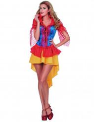 Sagoprinsess - Dräkt med spets för vuxna till maskeraden