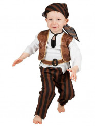 Brun piratdräkt bebis