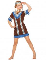 Blå indiandräkt för barn till festen