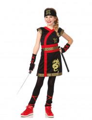 Guld drak-ninja dräkt
