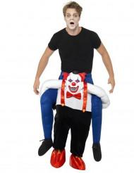 Maskeraddräkt rida på skrämmande clowns rygg vuxen Halloween