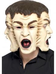 Mask med tre ansikten för vuxna till Halloween