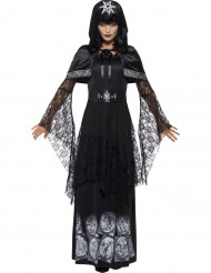 Maskeraddräkt svart magi häxa vuxen Halloween